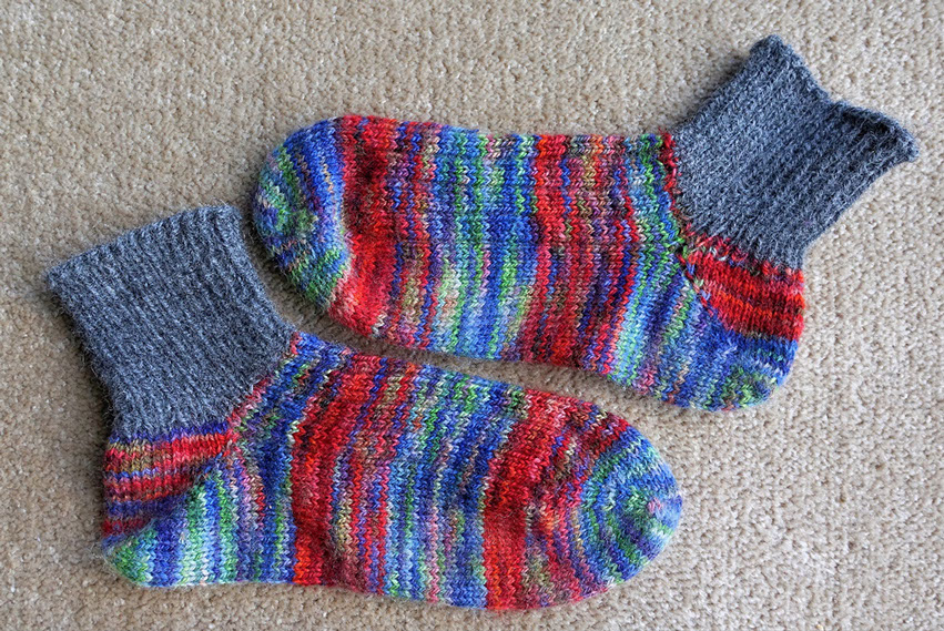 Rippingyarns, Chips 'easy as' Toe up Socks